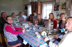 Чай для участников экспедиции в с. Космозере