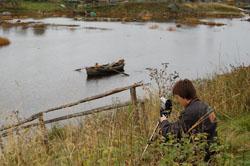 С. Шуерецкое. Видеозапись на берегу реки Шуи