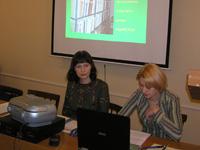 В.П. Кузнецова и Е.В. Марковская на семинаре 21.03.2007 г.