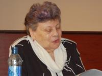 Д.ф.н., профессор КГПУ С.М. Лойтер читает доклад о «внетекстовых» источниках фольклористики. 23.03.09 г.